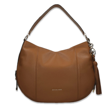 - Michael Kors - Brooke Large Pebbled Leather Shoulder Bag Acorn Damestassen