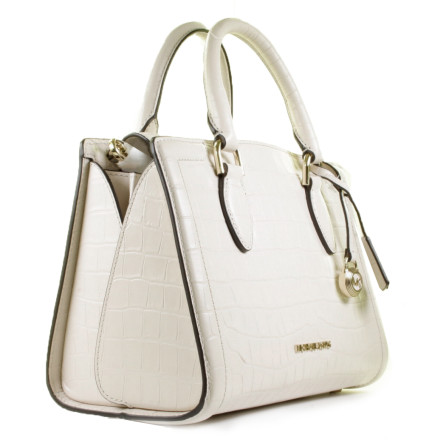 - Michael Kors - Zoe Medium Satchel Light Cream Tassen