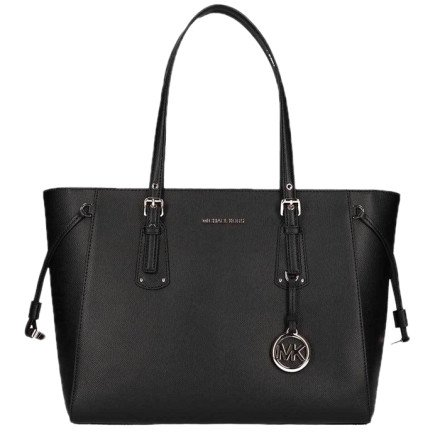 - Michael Kors - Voyager Medium Tote Bag Black Tassen