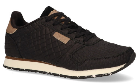 Sneakers - Woden - Ydun Croco Black Runner