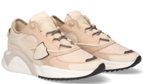 Sneakers - Philippe Model - Eze Mondial Resau Beige Damessneakers