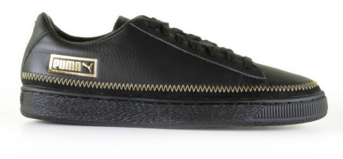 Sneakers - Puma - Basket Trim Metallic 369650/02 Black Damessneakers