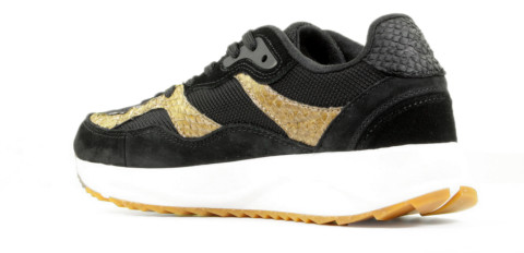 Sneakers - Woden - Sophie Mix WNS5050 Black/Brown Damessneakers