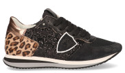 Philippe Model - Tropez X Leo Glitter Noir Damessneakers - Dames - Zwart Divers