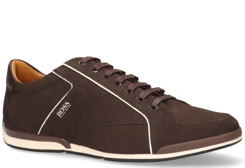 Sneakers - Hugo Boss - Saturn Low Nupf Donkerbruin Herensneakers