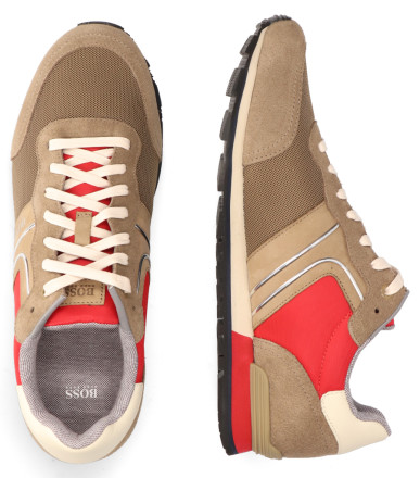 Sneakers - Hugo Boss - Parkour Runn Beige Herensneakers