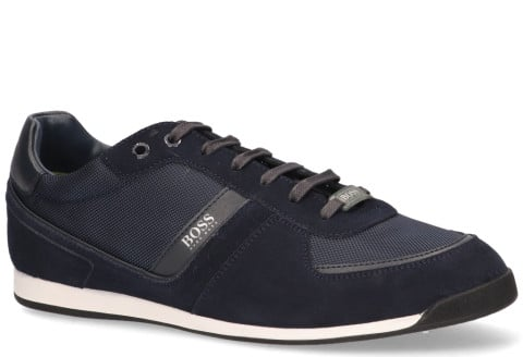 Sneakers - Hugo Boss - Glaze Low MX Donkerblauw Herensneakers