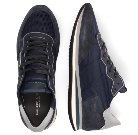 Sneakers - Philippe Model - Tropez X Mondial Gomme Donkerblauw Herensneakers