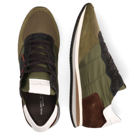 Sneakers - Philippe Model - Tropez X Mondial Groen Herensneakers