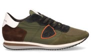 Philippe Model - Tropez X Mondial Groen Herensneakers - Heren - Groen Divers