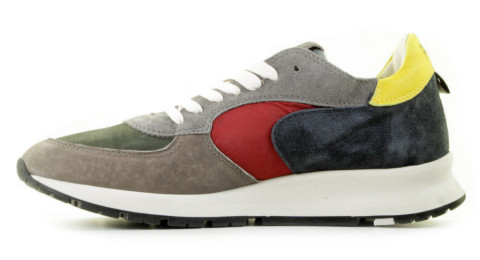 Sneakers - Philippe Model - Montecarlo Mondial Pop Taupe/Bleu Herensneakers