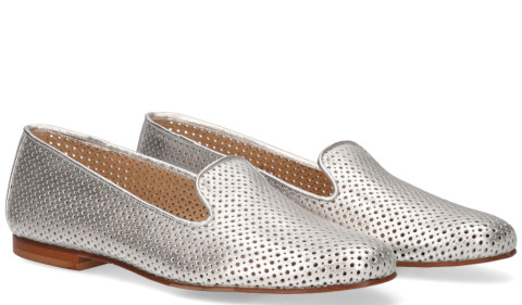 Instappers - Di Lauro - 814 Zilver Damesloafers