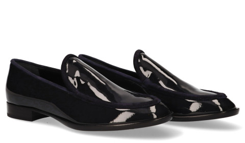 Instappers - AGL - D714070 Donkerblauw Damesloafers