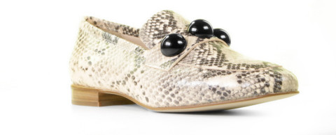 Loafers - Pertini - 17143 Beige Damesloafers