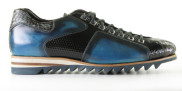 Harris - 0780 Blu Graffiato Sneakers - Heren - Blauw Divers