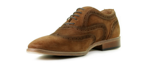 Brogues - Daniel Kenneth - Korvin Cognac Heren Veterschoenen