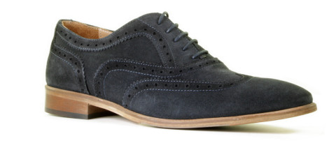Brogues - Daniel Kenneth - Korvin Donkerblauw Heren Veterschoenen