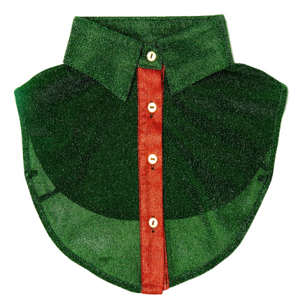 - PiNNED by K - Collar Glitter Green/Red Kraagjes