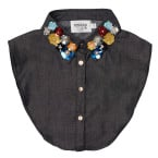 PiNNED by K - Collar Flower Black Kraagjes - Accessoires - Zwart