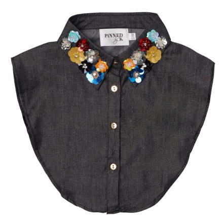 - PiNNED by K - Collar Flower Black Kraagjes
