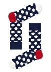 Happy Socks - Big Dots BD01 608 Herensokken - Accessoires - Blauw Wit