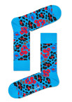 Happy Socks - Multi Leopard MLE01 6300 Damessokken - Accessoires - Blauw Divers