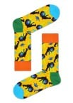Happy Socks - Monkey MNK01 2200 Damessokken - Accessoires - Geel Divers