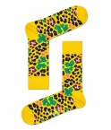 Happy Socks - Multi Leopard Yellow Damessokken - Accessoires - Geel Divers