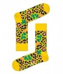 Happy Socks - Multi Leopard MLE01 2200 Damessokken - Accessoires - Geel Divers