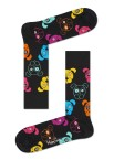 Happy Socks - Dog 9001 Herensokken - Accessoires - Zwart Divers