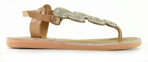 Slippers/Sandalen - Laidback London - Soll Flat Light Brown Sandalen