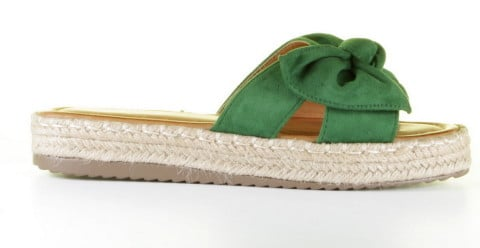 Plateau's - Mia and Jo - Haura Green Slippers