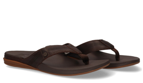 Slippers/Sandalen - REEF - Cushion Lux Donkerbruin Herenslippers