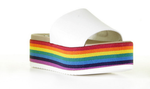 Plateau's - Steve Madden - Abstract Rainbow Multi Slippers