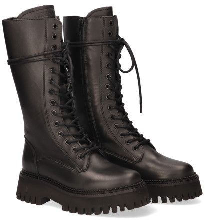 Laarzen - Bronx - Groov-y High Top Zwart Dames Veterboots