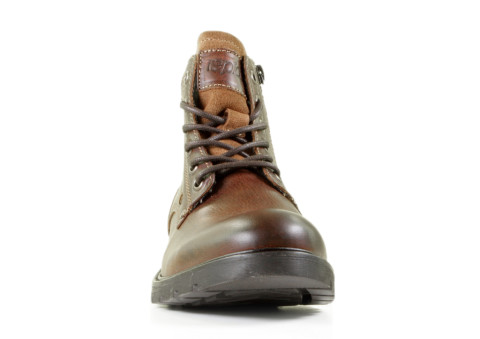 Boots - Rapid Soul - Jeral-2 Dark Brown Heren Veterboots