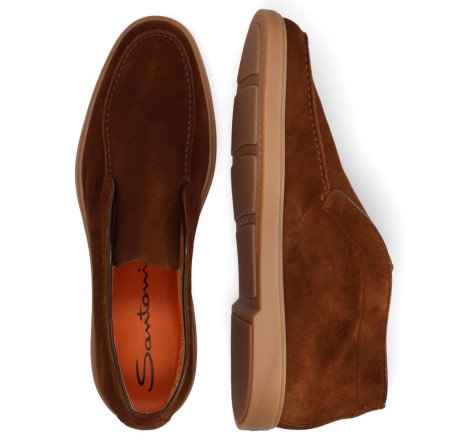 Boots - Santoni - 15999 Brown Loafers