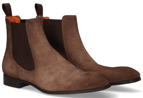 Boots - Santoni - 13414 Taupe Heren Chelseaboots