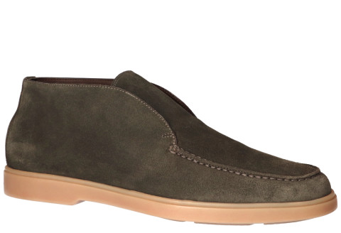 Boots - Santoni - 15999 Green Loafers