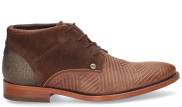 Rehab - Salvador Zig Zag Brown Heren Veterschoenen - Heren - Cognac