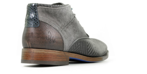 Boots - Rehab - Salvador Zig Zag Dark Grey Heren Veterschoenen