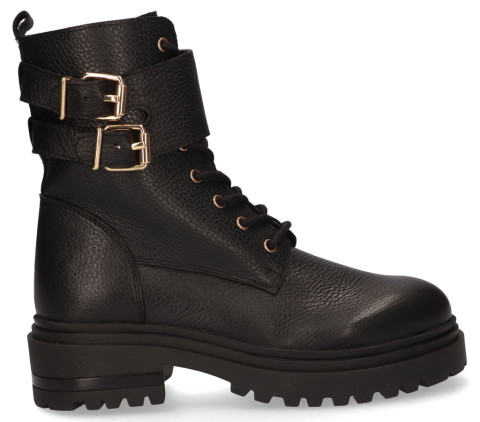 Enkellaarsjes - Miss Behave - LPWrite-03 Zwart Dames Veterboots