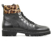 Miss Behave - 1812 1 Zwart Dames Veterboots - Dames - Zwart