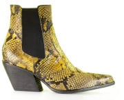 Strategia - E2002 Tibet Giallo Wash Chelseaboots - Dames - Geel Zwart