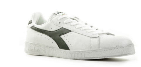 Sneakers - Diadora Sport - Game L Low Waxed White/Blue Caspian Sea Herensneakers