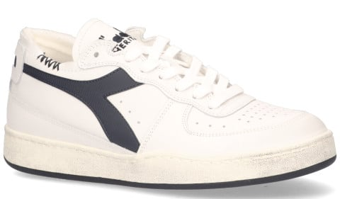 Sneakers - Diadora Heritage - Mi Basket Row Cut Wit/Donkerblauw Herensneakers