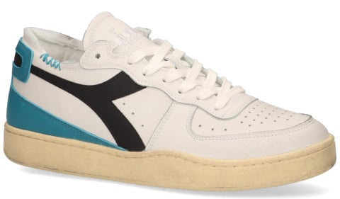 Sneakers - Diadora Heritage - Mi Basket Row Cut Used Wit/Grijs Herensneakers