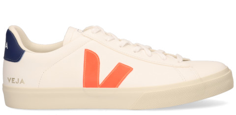 Sneakers - VEJA - Campo Chromefree Leather Wit/Oranje Herensneakers
