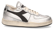 Diadora Heritage - Mi Basket Row Cut Used Zilver Zwart Damessneakers - Dames - Zilver