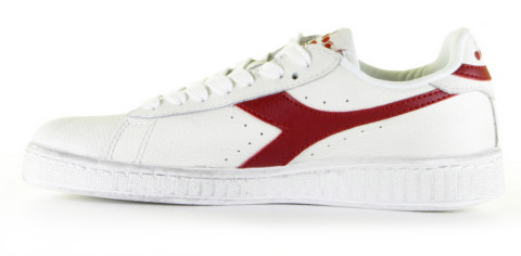 Sneakers - Diadora Heritage - Game L Low Waxed Wit/Rood Damessneakers